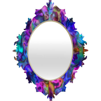 Lisa Argyropoulos Colour Aquatica Berry Blue Baroque Mirror