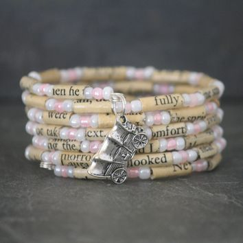 Little House on the Prairie Bracelet Book Page Charm Bracelet