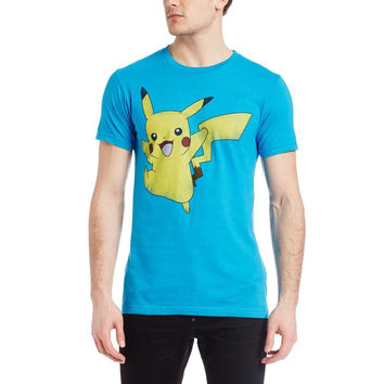 Pokemon - Pikachu Jump Adult T-Shirt