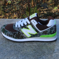 Women Men Casual Running NEW BALANCE Sport Shoes Sneakers Jungle camouflage color