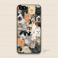 Cat iPhone 5 5s Case,iPhone 5C Case,iPhone 4 4s Case,Samsung Galaxy S3 S4 S5 Case,Cute Cats Hard Plastic Rubber Cover Skin Case
