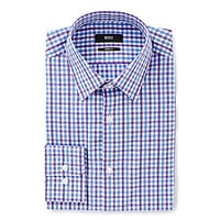 BOSS Hugo Boss Marlow Sharp-Fit Point-Collar Dress Shirt - Blue/Purple
