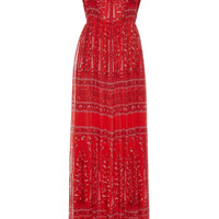 Sleeveless Printed Gown | Moda Operandi