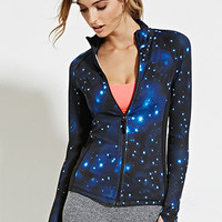 Galaxy Print Athletic Jacket