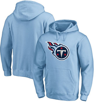 Men's Tennessee Titans NFL Pro Line by Fanatics Branded Light Blue Primary Logo Pullover Hoodie
