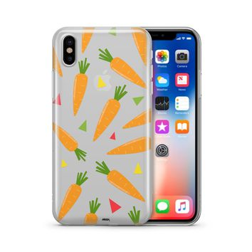 Carrots - Clear TPU Case Cover