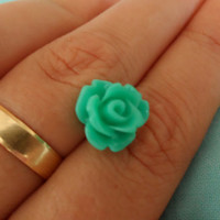 turquoise flower earring,Rose flower earrings,miny flower earring