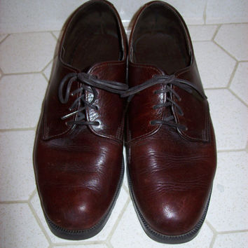 Leather Lace Up Loafers Women's Size 8M