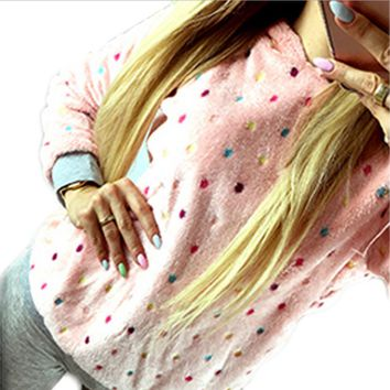 Fashion hot dots hoodie sweater pullover hoodie