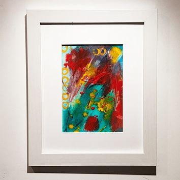 003 Original Abstract  Art on Paper. Free-shipping within USA .