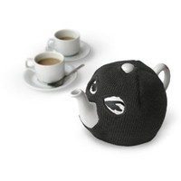 SUCK UK Terrorist Tea Pot with Knitted Tea Cosy