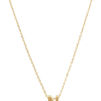 Be Yourself Initial Necklace - N
