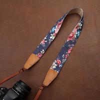 Black Friday/Christmas Gift, Camera Strap, Canon/Nikon/Samsung/Leica Camera Strap,flower