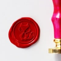 Cute Fox Wax Seal Stamp/Sealing Wax Seal/ Wedding Stamp/scrapbooking stamp ws094