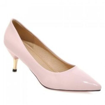 Office Lady Pointed Toe and Solid Color Design Pumps For Women