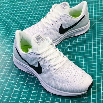 Wmns Nike Air Zoom Pegasus 35 White Black Sport Running Shoes - 7fc7aaee4d