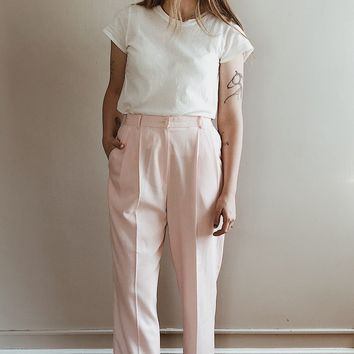 Vintage 1990's Millennial Pink Trousers