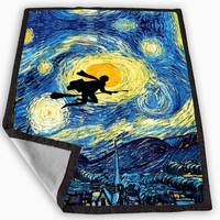 starry night harry potter Blanket for Kids Blanket, Fleece Blanket Cute and Awesome Blanket for your bedding, Blanket fleece **