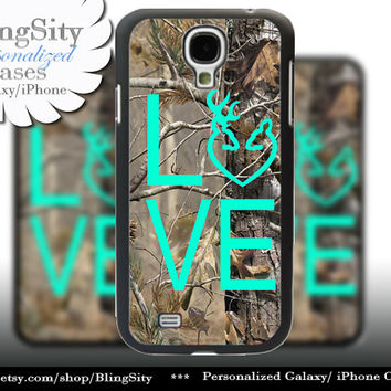 Buck Doe Love Heart Galaxy S4 case S5 Camo Browning RealTree Tree Deer Camo Samsung Galaxy S3 Case Note 2 3 4 Cover Country Girl