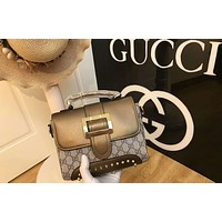 GUCCI counter show highlights fashion personality female shoulder bag F-AGG-CZDL gold
