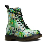 Womens Dr. Martens Pascal 8-Eye Slime Floral Boot