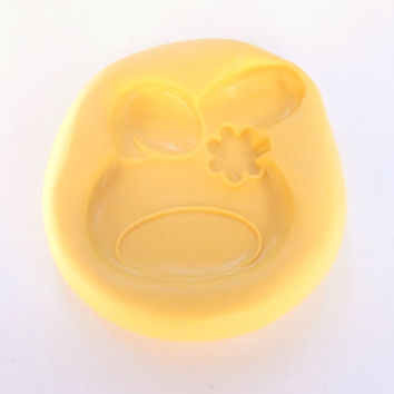 Rabbit Bunny Mould Resin Clay Fondant Wax Soap Fimo Flexible Silicone Mold