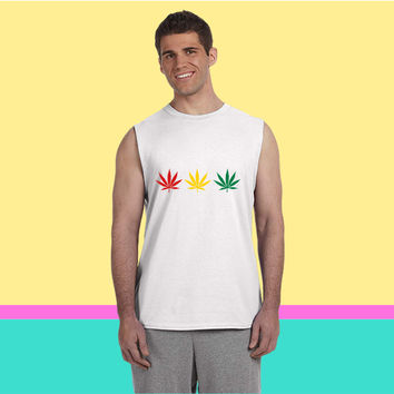 weed rgg 3clr Sleeveless T-shirt