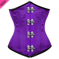 Purple 24 inch Spiral Steel Boned Underbust Corset Top