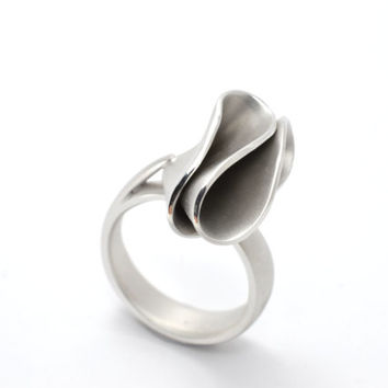 twist ring , silver ring, sterling silver ring