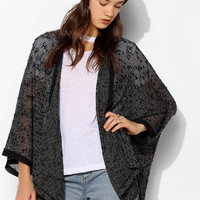 Sparkle & Fade Chiffon-Trim Open Cardigan - Urban Outfitters