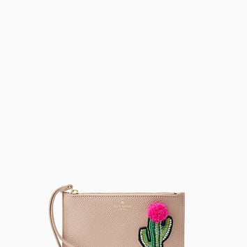 on purpose small leather wristlet
