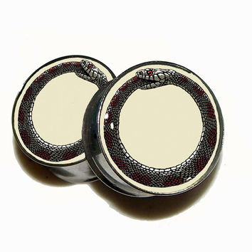 Ouroboros Plugs - 1 Pair - Sizes 00g to 2""