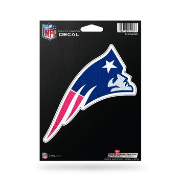 New England Patriots Decal 5.5x5 Die Cut Bling