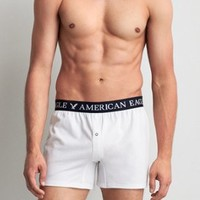 AEO Slim Knit Boxer , Green | American Eagle Outfitters