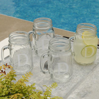 Personalized Classic Mason Jar Glass Set