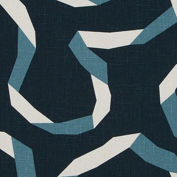Robert Allen Fabric 262106 Vento Ribbon Admiral