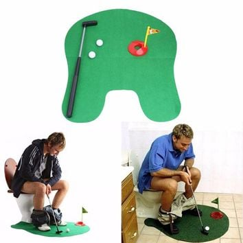 Potty Putter Toilet Golf Game Mini Golf Set Toilet Golf Putting Green Novelty Game High Quality for Men and Women Practical Joke
