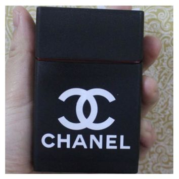 Chanel & BOY LONDON & Hello Kitty Fashion Personality Fashion Exquisite Pattern Silicone Cigarette Case (Smoking Sweatproof) BLACK Chanel