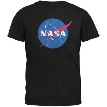 NASA Logo Black Adult T-Shirt