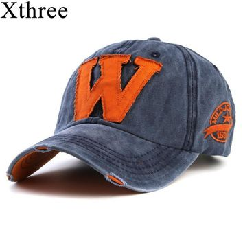 Trendy Winter Jacket Xthree hot cotton embroidery letter W baseball cap snapback caps fitted bone casquette hat for men custom hats AT_92_12