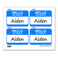 Aiden Hello My Name Is - Sheet of 4 Stickers