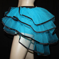 BLUE PEACOCK  BACHELORETTE BUSTLE  TUTU BURLESQUE DANCE PARTY HALLOWEEN