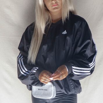 VINTAGE Black Adidas Windbreaker