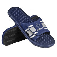 Dallas Cowboys Official NFL Mens Stripe Shower Flip Flops