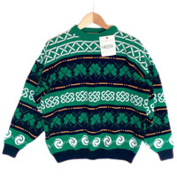 Blarney Woolen Mills Shamrock St Patricks Day Ugly Ski Sweater