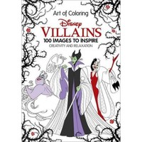 Art of Coloring: Disney Villains: 100 Images to Inspire Creativity and Relaxation - Walmart.com