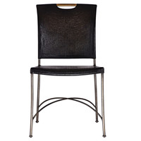 Artistica, Chronograph Iron Side Chair, Black, Side Chairs