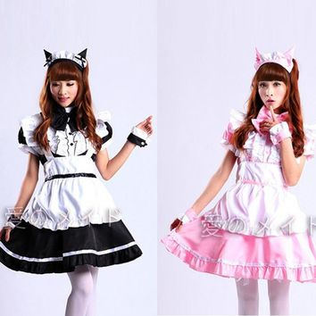 Hot Sale Alice in Wonderland Costume Cute Dress Maid Cosplay Fantasia Carnival Halloween Costumes for Women Maid Uniform Costume