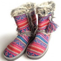 Cierra Ugly Sweater Nordic Knit Mukluk Slippers $11 - $22 - The Ugly Sweater Shop
