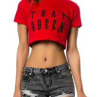 The Trap Queen Crop Tee in Red